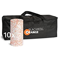 blackroll-orange Trainer BAG Sporttasche inkl. 10 Faszienrollen MED