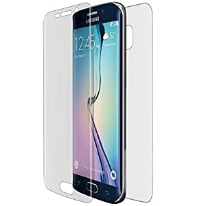 Avizar - Film protecteur Latex Integral Avant + Arriere semi-rigide ultra transparent pour Samsung Galaxy S6 Edge