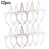 Fascigirl 12pcs plastique licorne wapiti antlers bandeaux corne bandeau pour enfants fête de noël halloween