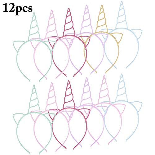 Fascigirl 12 stücke Kunststoff Einhorn Elch Geweih Stirnbänder Horn Haarband Für Kinder Halloween ()