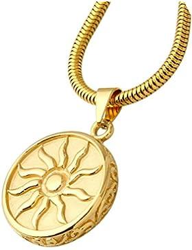 Aooaz Herren Anhänger Edelstahl Anhänger Gold Sonnen Gott Kreis Münze Hochzeit Halsketten Anhänger Für Männer...
