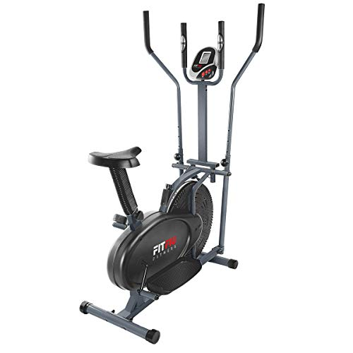 FITFIU Bicicletta ellittica cross trainer con display LCD e cardiofrequenzimetro