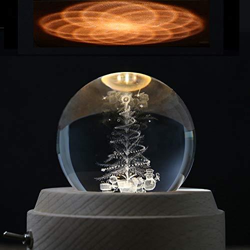 Slivy 3D árbol Navidad Caja música proyección LED