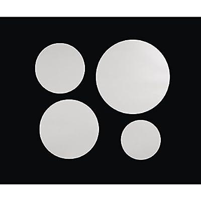 RAYHER - 7100500 - Dekospiegel-Set: Kreise, selbstklebend, 4 Größen (8-15 cm ø), SB-Btl. 1 Set