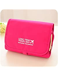 Pink : SUNREEK™Multifunction Waterproof Fashion Travel Cosmetic Bag Makeup Bag Cosmetic Cases Storage Bag Toiletry...