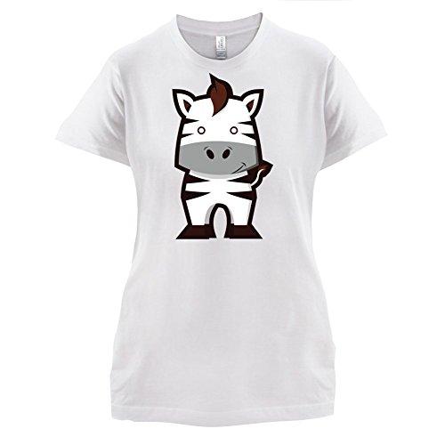 Cute Zebra - Damen T-Shirt - 14 Farben Weiß