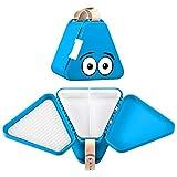 Teebee – Kinderkoffer für Spielzeug und Reise | Organizer, Brotdose und Spielzeugkiste für Auto und Flugzeug | Kreativ Spielen im Autositz und unterwegs | für Jungen und Mädchen | Hellblau