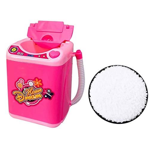 Dtuta Rosa Make-Up-Tool Waschmaschine Reinigungswerkzeug + Puff Make-Up Pinsel Sauber Und Steril ZuverläSsiger Leicht Und Einfach Zu Bedienen Pinsel Set
