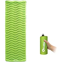 Exqline Sleeping Mat Inflatable Camping Sleeping Pad Camping Mattress Inflatable Roll Mat for Hammock, Tent, Inflatable Air Mattress for Outdoor Camping Hiking Travelling