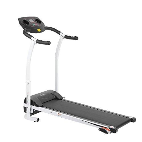 Tatayang Multifunktionaler Elektrisches Laufband, Haushalt Klappbar Laufende Maschine Fitness Sportgeräte Fitnessgerät mit LCD-Display, Dämpfung Leise Motorisiert (Big Last -120kg)