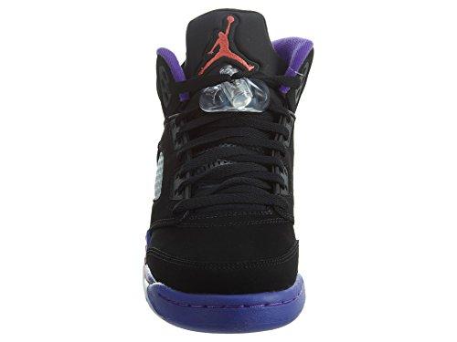 Nike Air Jordan 5 Retro Gg, Scarpe da Basket Bambina Nero (Black / Ember Glow-Fierce Viola)