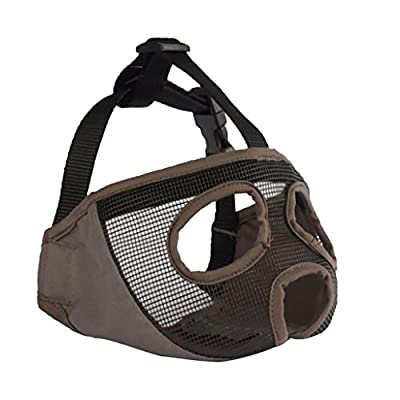 D DOLITY Dog Mesh Muzzle for Pug Bulldogs and other Flat Face Faced Short Snout Dog by D DOLITY