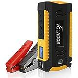 Démarrage de Voiture Portable, Volador 600A Peak 18000mAh Booster Batterie Jump Starter Auto avec Pinces Alligator intelligents pour Voitures à Essence jusqu'à 6L ou Véhicules Diesel jusqu'à 3L