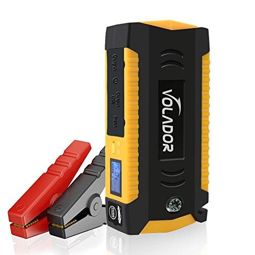Volador 600A Peak 18000mAh Starthilfe Tragbare Anlasser LCD Display und für Laptop, Smartphone, Tablet und Vieles Mehr