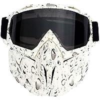 VORCOOL Máscara a Prueba de Viento Transpirable Gafas de Montar en Motocicleta (Lente de Marco Gris)