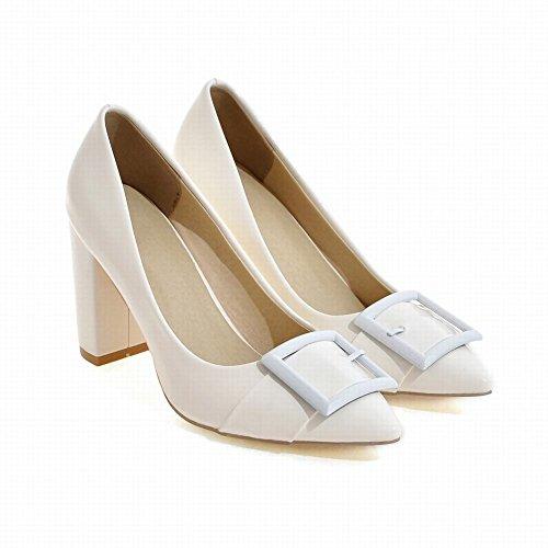 MissSaSa Donna Scarpe col Tacco Confort e Elegante Bianco