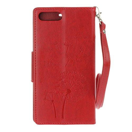 Voguecase® für Apple iPhone 6/6S 4.7 hülle,(Baum/Rosa) Kunstleder Tasche PU Schutzhülle Tasche Leder Brieftasche Hülle Case Cover + Gratis Universal Eingabestift Diamant/Löwenzahn/Rot