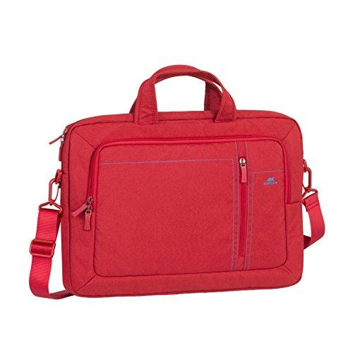 """RIVACASE Laptoptasche bis 15.6"""" -  Elegante Tasche aus wasserabweisenden Material und faltbaren Tragegriffen - Rot"""