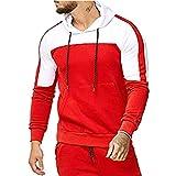 Herren Pullover Dasongff Hoodie Trainingsanzug Männer Patchwork Sweatershirts Kaputzenpullover Winter Breathable Sportsuits Drawstring Hose