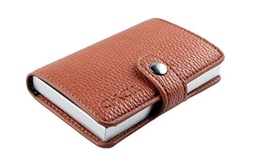 TIDY-ID Smart Wallet (Braun) Carbon Steel Fleck