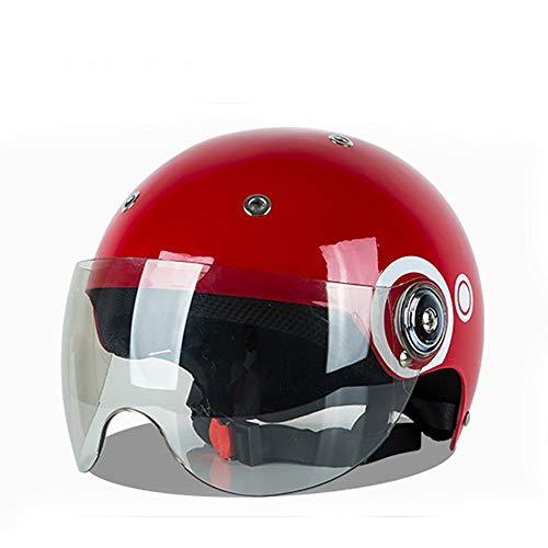 Casco Jet Moto Caschi Moto PP/ABS Corpo del Casco 8 Attraverso Il Casco Auto Elettrica Fodera Protezione Solare UV Casco Mezzo Stagioni Suono qualità Disegno del Foro