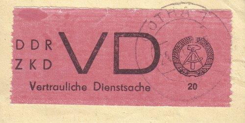 Goldhahn DDR Dienstmarke Nr. D 1A PF I gestempelt Plattenfehler Briefmarken für Sammler