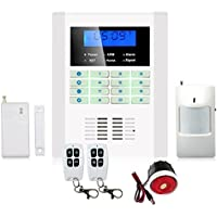 Rete GSM Dual & PSTN 101 zone di allarme vocale sistema Intercom con Display LCD
