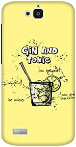 The Racoon Grip Lemon Gin and Tonic hard plastic printed back case / cover for Huawei Honor Holly