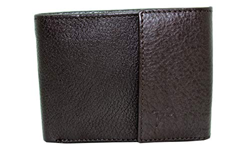 Juzar Tapal Collection RFID Safe Geldbörse mit Schlangenstruktur, Lederimitat, Klappe mit Klappe und Daumenausweis - Braun - Klein -