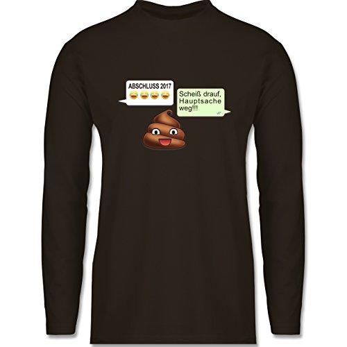 Abi & Abschluss - ABSCHLUSS 2017 - Scheiß drauf Messenger - Longsleeve / langärmeliges T-Shirt für Herren Braun