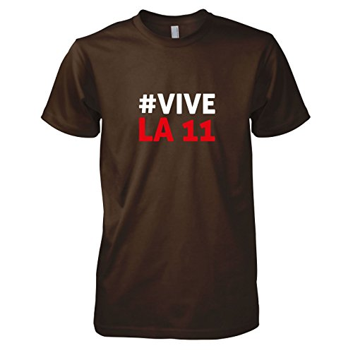 TEXLAB - Polska Vive La 11 - Herren T-Shirt Braun