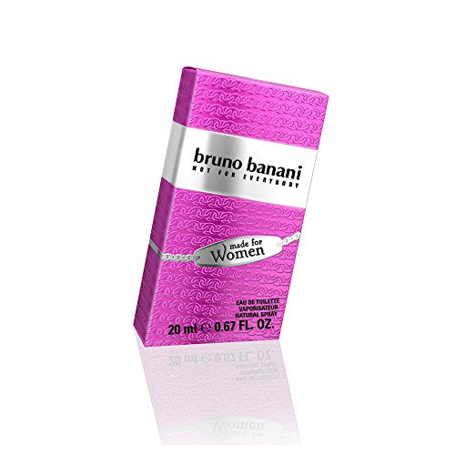 bruno banani Made for Women – Eau de Toilette Natural Spray – Verspielt-verführerisches Damen Parfüm – 1er Pack (1 x 20ml)