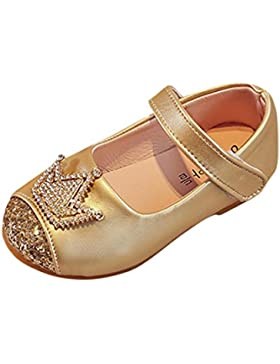 K-youth® Sandalias de Vestir Niña Moda Zapatos Bebe Niña Verano Zapatos de Cuero Niña Corona Zapatos Planos Zapatos...
