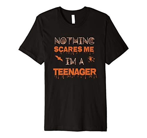 (Nichts Angst mich, ich ein Teenager Funny Halloween Tshirt)