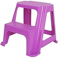 Multifunktions Sicherheit Kinder Leiter Hocker Badezimmer Fußbank Kindergarten Ascend Pedal Change Schuhe Hocker 2 Schritte, 4 Farben (Farbe : Purple)