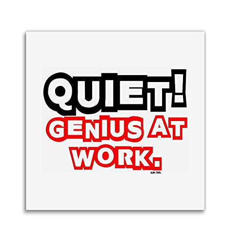 Quiet.Genius at work lustige gedruckt Becher Coaster Mama Freundin Freund Geschenk-Set (Für Männer Billig-stuffers)
