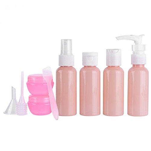 Soviton 9pcs plástico spray botella Kit viaje maquillaje