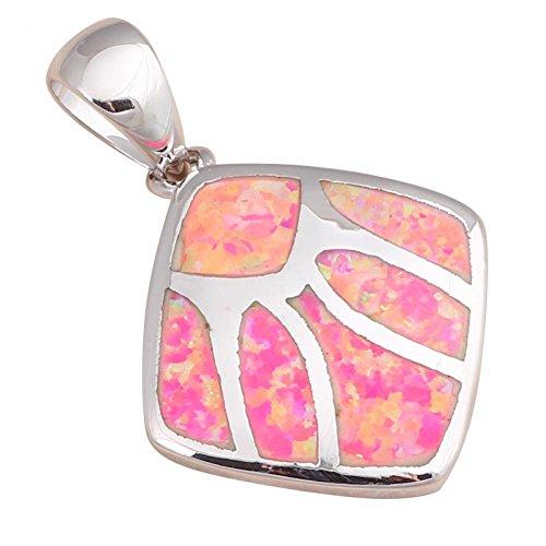 Bling fashion regalo per gli amici Rosso Opale di fuoco argento 925collane ciondoli matrimonio Fashion Jewelry ops541a