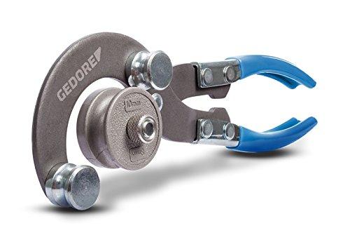 GEDORE 241500 Rohrbiegezange 4,75-10 mm – Rohrbiegegerät mit umdrehbaren Biegeformen für weiche Kupferrohre und biegefähige Stahl- & Edelstahlrohre