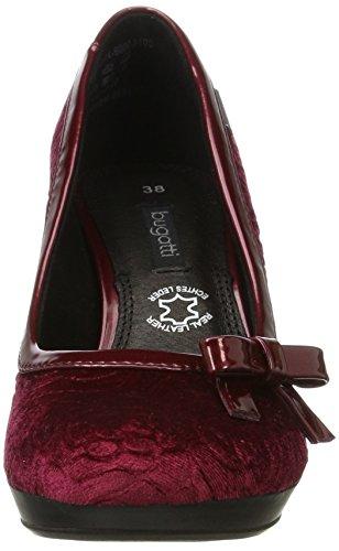 Bugatti Damen 412281746000 Pumps Rot (Dark Red)
