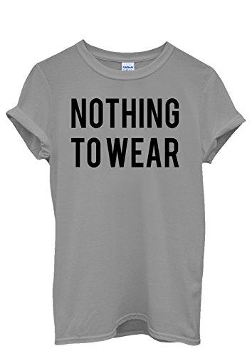 Nothing To Wear Shopping Girl Men Women Damen Herren Unisex Top T Shirt Grau