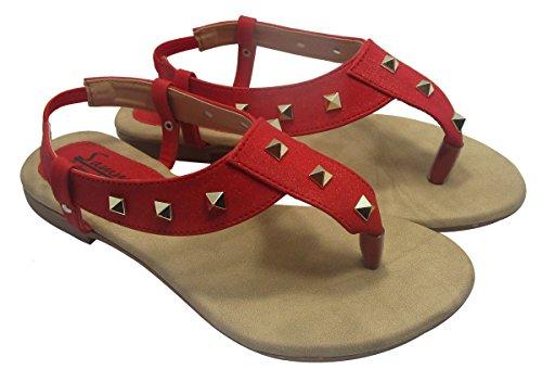 Sammy plates sandales casual dames de femmes concepteur Floater tongs Rouge