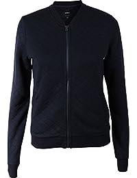 Only Damen Bomberjacke Übergangsjacke Sweatjacke (42 (Herstellergröße: XL), Black)