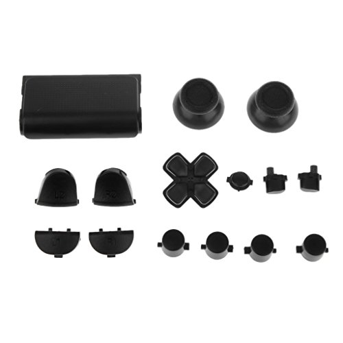L2 R2 L1 R1 Thumbstick Kappe Gehäuse Button Mod Set Kit für Kontroller Sony PS4 - Schwarz