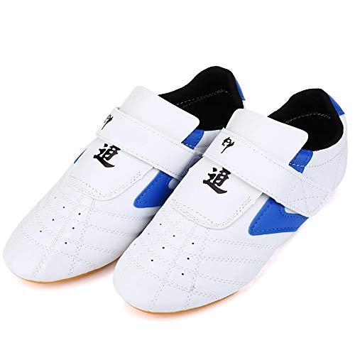 Dilwe Zapatillas de Taekwondo Zapatos de Boxeo de 20 Tallas Equipo de Protección para Pies de Gimnasio...