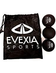 Masaje pelota–Cacahuete bola de Lacrosse–ideal para punto de liberación miofascial, disparador terapia y masaje de tejido profundo–mejor movilidad pelota para Crossfit y Yoga–muy alta calidad