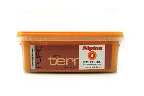 Alpina Pure Colour Wandfarbe seidenglänzend 2,5 l (Terra) -