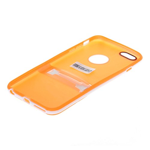 MOONCASE Brillare Gel TPU Silicone Housse Coque Etui Case Cover pour Apple iPhone 5 5S Claire Orange