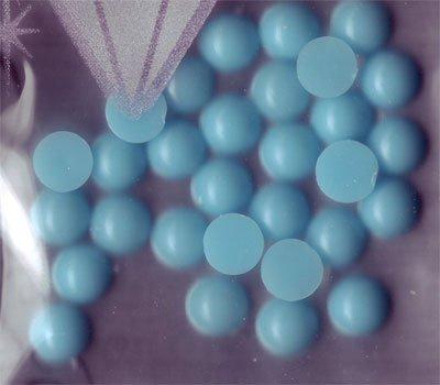 Ronde acrylique Pierres : Turquoise