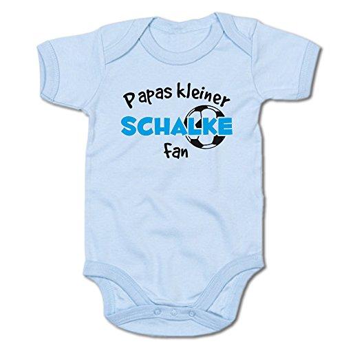 Papas Kleiner Schalke Fan Baby-Body (250.0233) (12-18 Monate, blau)